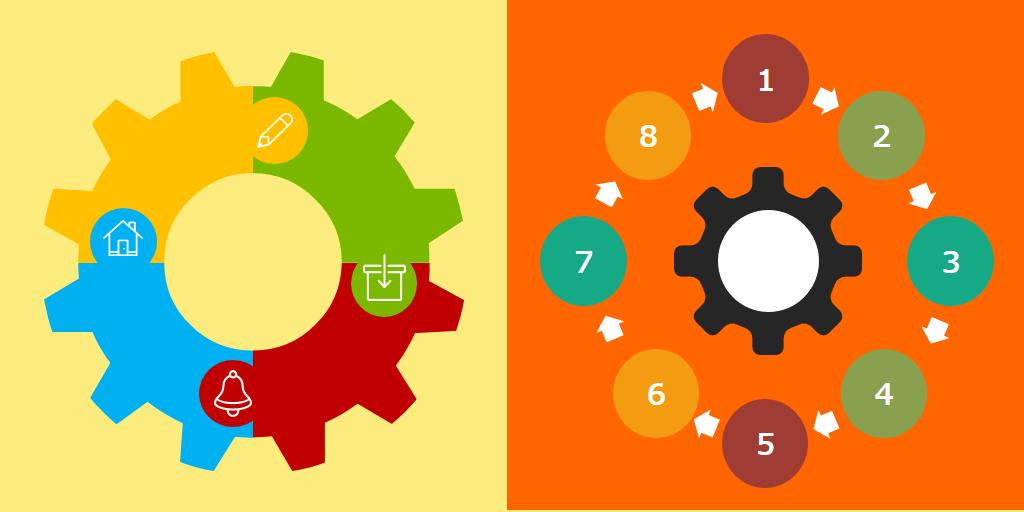 Diagramas para infografías y presentaciones