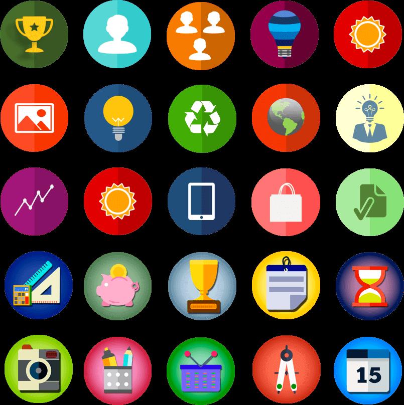 Pack de Iconos para infografías, diagramas, presentaciones