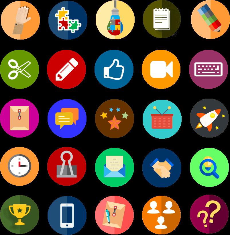 Iconos para crear infografías y diagramas