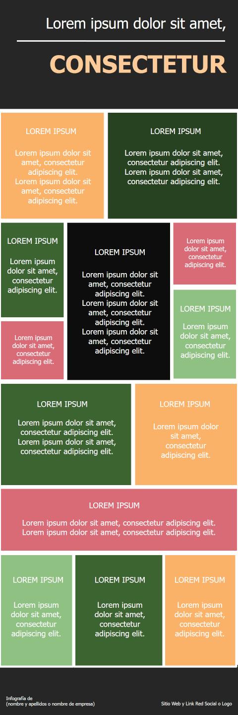 Plantillas Infografías con notas