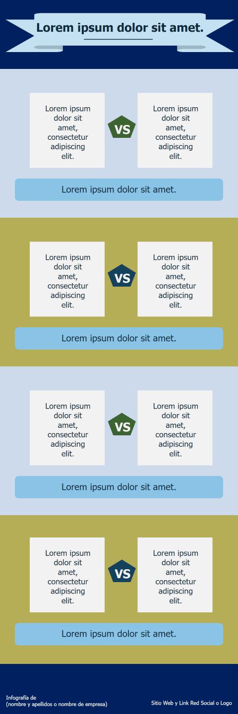 Ideas para crear infografías comparativas