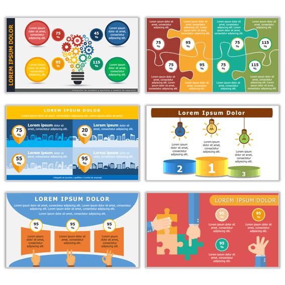 Infogramas verticales para presentaciones profesionales