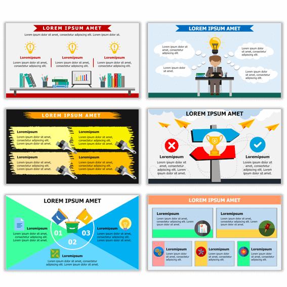 Ejemplos de plantillas de infografías en power point