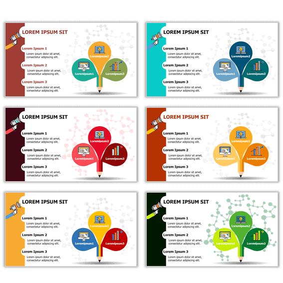 Ejemplos de plantillas infográficas power point