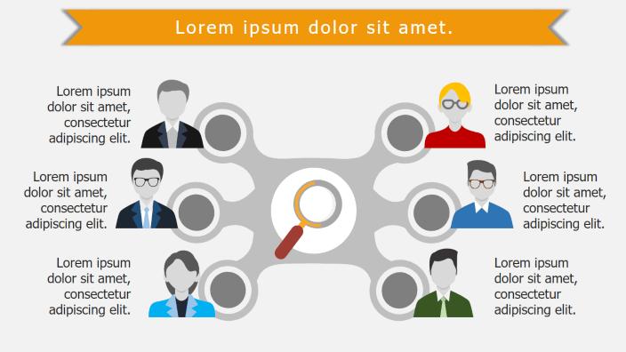 Infogramas de presentación de equipos de trabajo