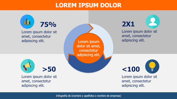 Plantillas de Infografías Powerpoint para Presentaciones