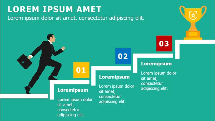 Infografías para presentar el paso a paso del éxito