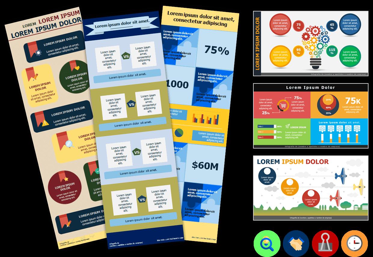 Plantillas Power Point y Consejos para crear infografías y diagramas