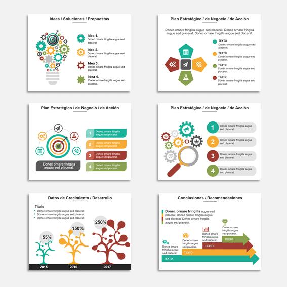 Presentaciones de negocios con estilo infográfico